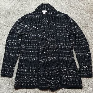 Coldwater Creek Open Front Knit Cardigan